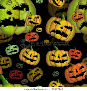 free halloween seamless pumpkin pattern