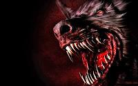 angry halloween werewolf wallpaper
