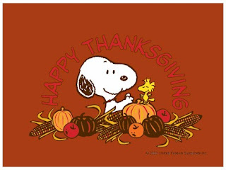 Snoopy Thanksgiving Cards