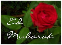 Eid Mubarak With A Rose