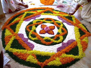 colorful deepawali flower rangoli