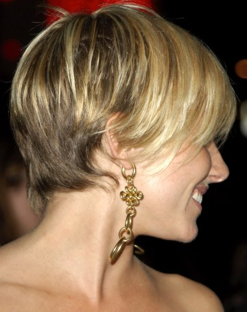 blonde brown hairstyles. short spikey hairstyles