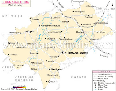 Tourist Spot In South India Tourist Spots And Travel Destinations - Chikmagalur map