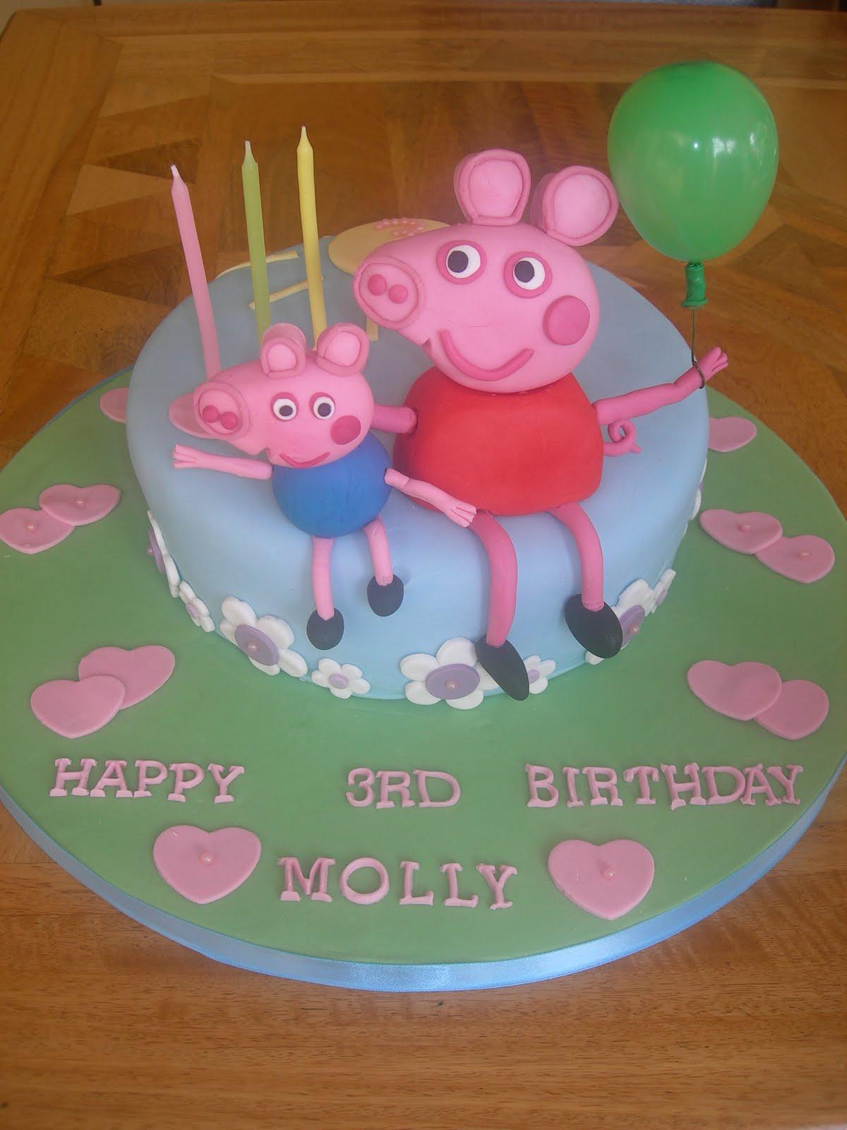 Custom Cake Designs Uk : Custom Cake Design: Peppa pig cake