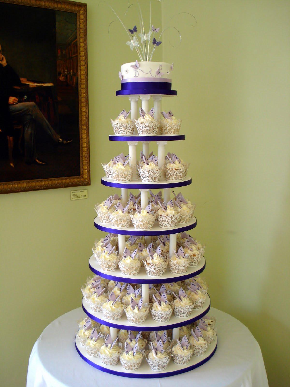 Custom Cake Designs Uk : Custom Cake Design: Wedding Butterfly Cupcake Tower