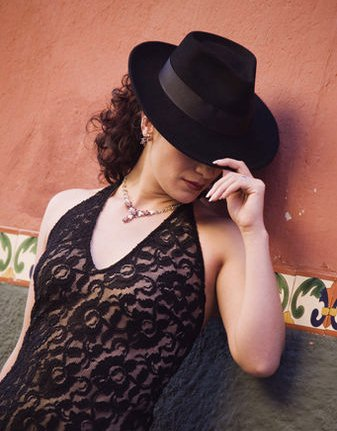 Fedora hats for celebrity women with tattoos