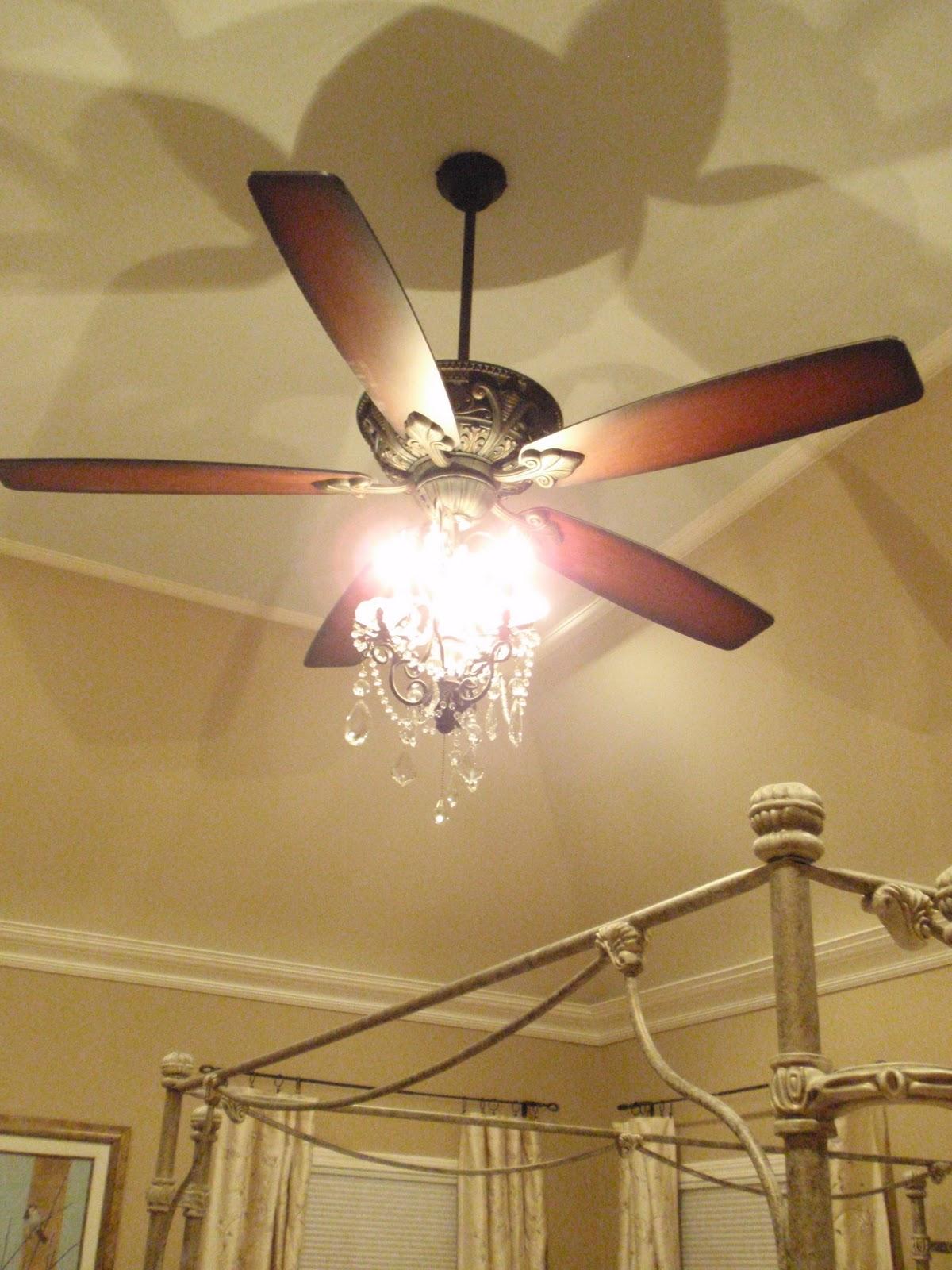 Diy by design my favorite lighting a chandelier for Ceiling fan or chandelier in master bedroom