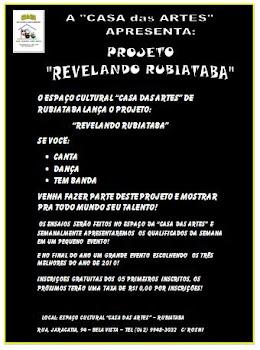 """PROJETO CULTURAL """"REVELANDO RUBIATABA"""" 2010"""