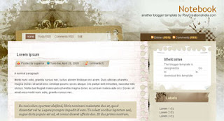 Notebook Blogger Template