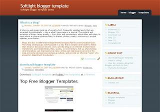Blogger Templates : Softlight