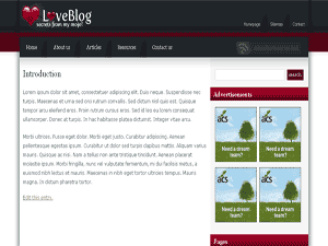 Blogger Templates : Love Blog