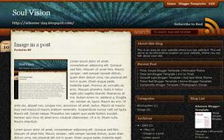 SoulVision Blogger Template | Art Blogger Theme