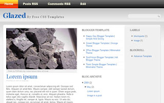 Glazed Blogger Template | Gray Theme