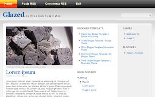Glazed Blogger Template | Gray Theme