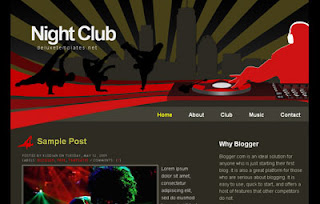 NightClub Blogger Template | Red And Black Theme