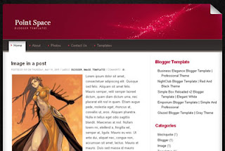 Point Space Blogger Template   Black and White