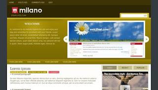 Blogger Templates : Milano
