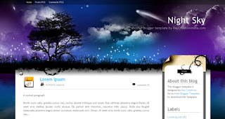 Night Sky Blogger Template | Natural Design