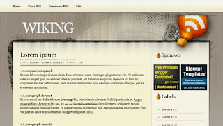 Wiking Blogger Template | Grunge Theme
