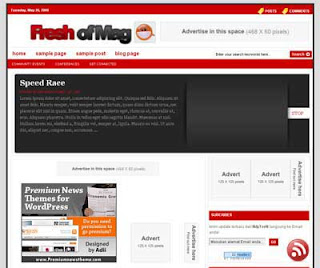 Fresh Template 15 template theme blogspot keren