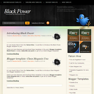 Black Power Blogger Templates