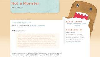 Not a Monster Blogger Template