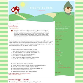 Nice To Be Here Blogger Template