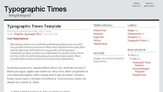 Typographic Times Blogger Template