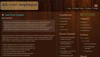 Dark Wood Blogger Template