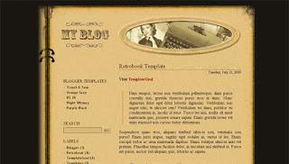 Retrobook Blogger Template