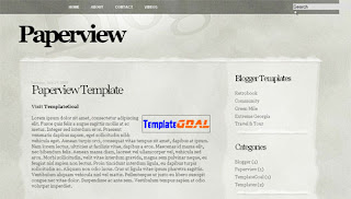 Paperview Blogger Template