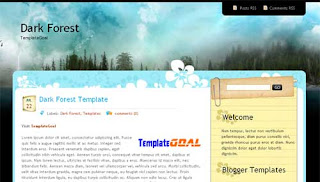 Blogger Template Dark Forest