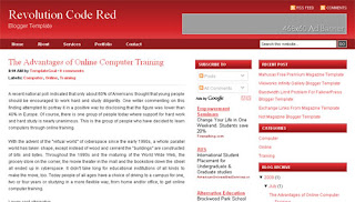 Blogger Template Revolution Code Red