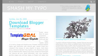Blogger Template Smash My Typo