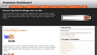 Blogger Template Premium Blogger Dashboard