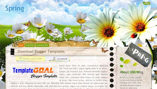 Spring Blogger Template