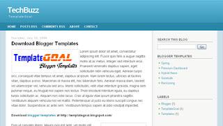 TechBuzz simple blogger templates
