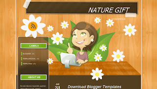 Nature Gift Girly Blogger Template