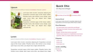 Quick Chic - Minimalist Girly Blogger Template