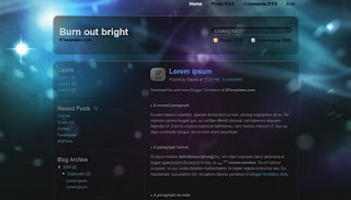 Burn out bright Blogger Template