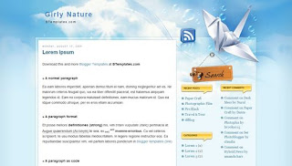 Girly Nature Blogger Template