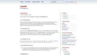 Lizzard Blogger Template