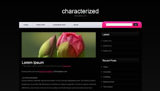 Characterized Blogger Template