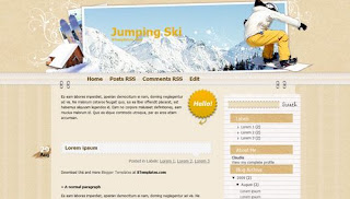 Jumping Ski Blogger Template