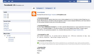Facebook 2.0 Blogger Template