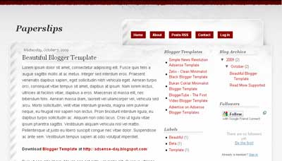 Paperlips - Grunge Blogger Template