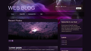 Web Blog Blogger Template
