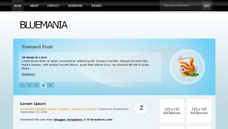 BlueMania Blogger Template