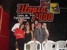 """Elenco de """"Maximiliano diez años después"""" en el teatro de la fiesta nacional de Formosa 2008"""