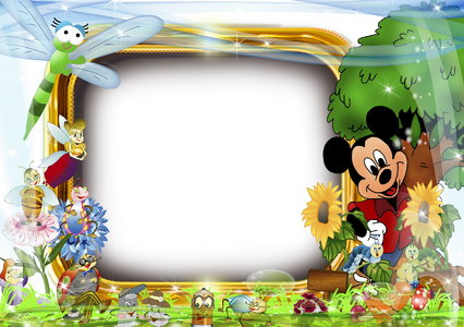 Download opened photoshop Mickey Frame PSD free